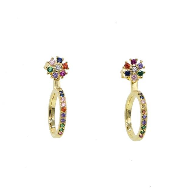 Красочные серьги с цветами женские милые ювелирные изделия оптовая