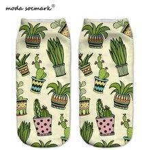 2019 Hot Sale Explosions New Creative Fashion Mens Tube Socks Female Children Boat Cactus Pattern 3D Printed