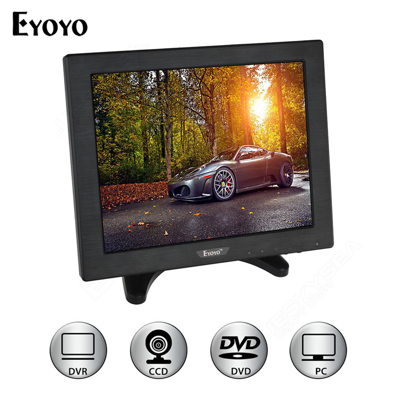 Eyoyo 10 inch LCD Color HDMl BNC Monitor Screen Video for PC CCTV Security DVR Camera escam t10 10 inch tft lcd remote color video monitor screen with vga hdmi av bnc usb for pc cctv home security system camera