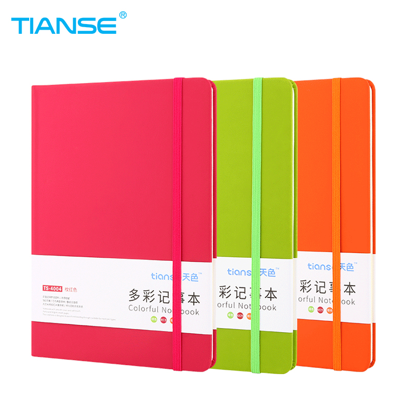 TIANSE A5 Paper Notebook Colorful Leather Cover Memo Pad Notepad Journal Diary Sketchbook For School Supplies Stationery stationery products spiral notebook paper a5 a6 notepad black legal pad memo pad office school supplies notebooks