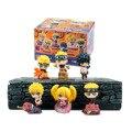 6 CM BONITO 6 pçs/set Naruto Uzumaki Naruto Orochimaru Uchiha Sasuke Hatake Kakashi Mini Ação PVC Figuras Brinquedos Bonecas