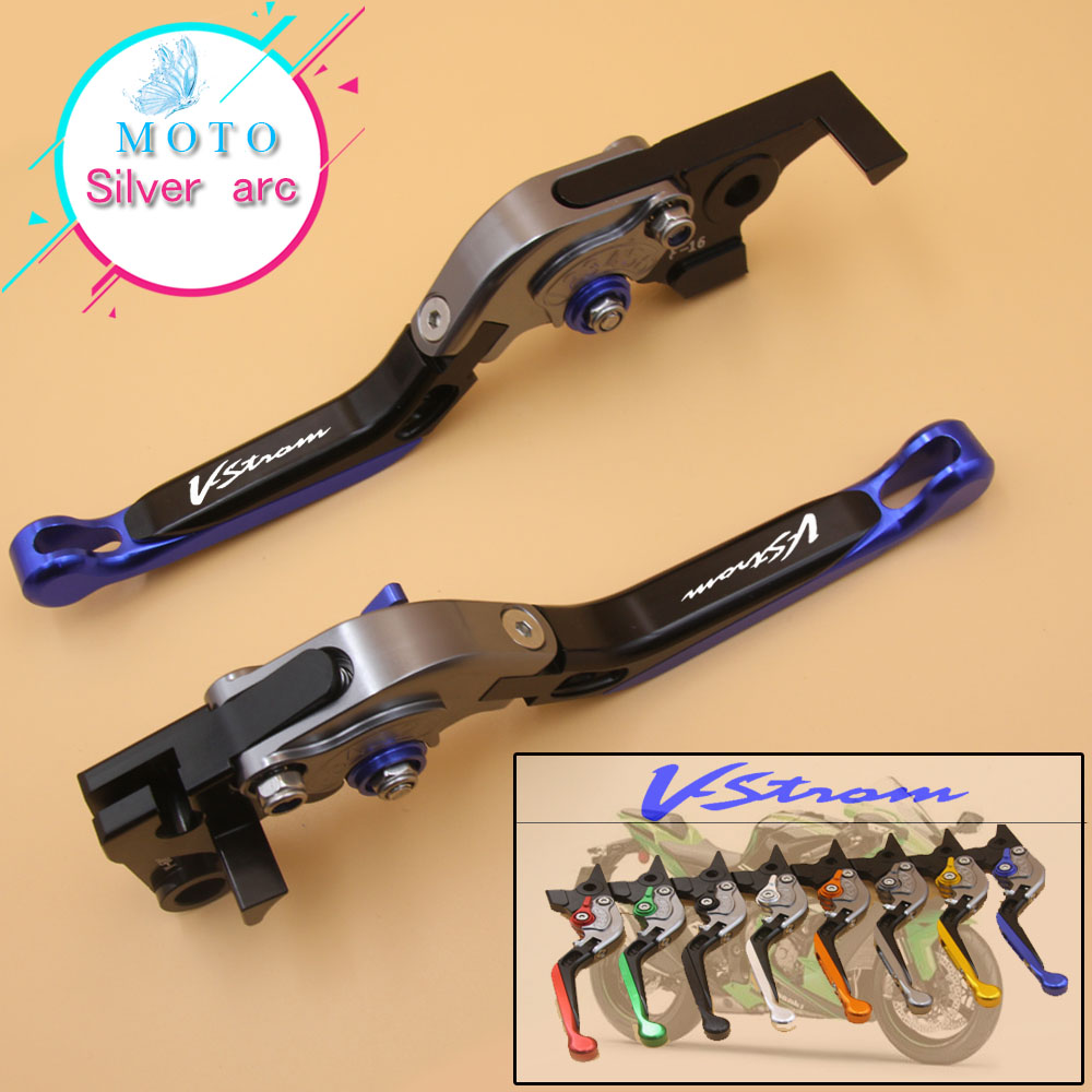 !With Logo CNC Golden Motorcycle Brake Clutch Levers For Suzuki DL650 V-STROM DL 650 VSTROM 2004-2010 2005 2006 2007 2008 2009 motorcycle accessories increased torque of cnc pivot brake clutch levers for ktm ajp pr4 125 200 2004 2005 2006 2007 2008 2009