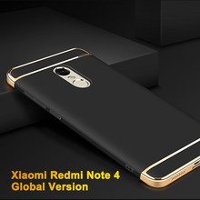 Global Version Xiaomi Redmi Note 4 Case Luxury Plastic Protective Back Cover For Xiaomi Redmi Note 4 Global Version Phone Cases