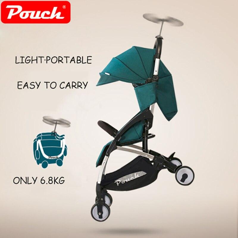 Luxury light portable baby stroller Bebek arabasi infant poussette stroller prams for newborns kinderwagens Brand Pouch A18