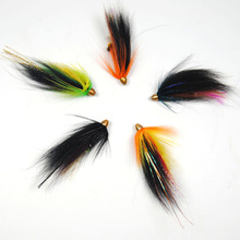 5PCS Assorted Color Salmon Steelhead Fly Fishing Tube Flies Combo Sea Bass Teasers Flies