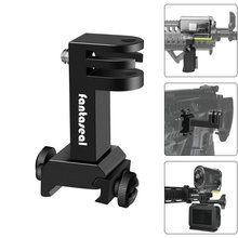Action Camera Side Gun Mount Picatinny Rail Adapter Kit for Gopro Hero SONY FDX HDR Hunting Rifle Pistol Carbine Airsoft