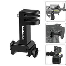 Eylem Kamera Yan silah mesnedi Picatinny Ray Adaptörü Kiti için Gopro Hero SONY FDX HDR Avcılık Tüfek Tabanca Karabina Airsoft