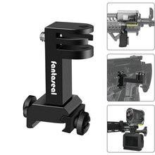 Kit adaptador para câmera de ação, suporte de trilho picatinny para gopro hero sony fdx hdr, pistola de rifle de caça, carbono