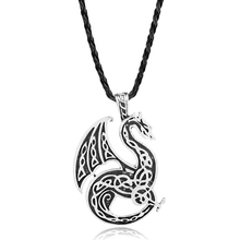 dongsheng The Elder Scrolls Antique Jewelry Norse Viking Sea Dragon Pendant Necklace Viking For Men Christmas Gift -30