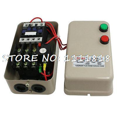 220V Coil 3KW 4 HP 3 Phase Motor Control Magnetic Starter 4.5-7.2A chint electromagnetism starter magnetic force starter qc36 10t motor starter phase protect magnetic force switch