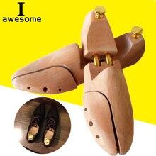 1 пара, регулируемые деревья для обуви, Весенняя прочная деревянная обувь для мужчин, поддержка для обуви, металлическая ручка, форма для обуви, женская обувь, уход за носилками, формирователь