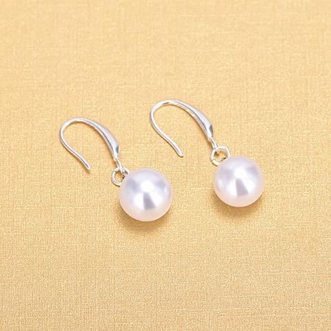 Купить женские серьги подвески из серебра 925 пробы с жемчугом