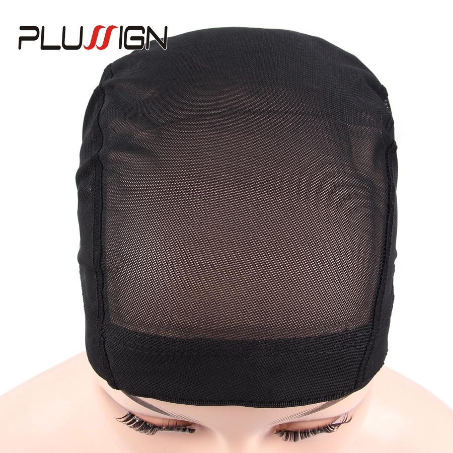 Plussign 1PC Wholesale Mesh Wig Caps For Making Wigs Glueless Comfortable Wig Liner Hair Weaving Hairnet Dome Spandex Cap Black in Hairnets from Hair Extensions Wigs