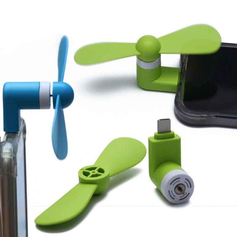 Tragbare OTG Micro USB Fan Dropshipping Ultra Silent Super Starke Wind Mini Fan Für Telefon Desktop Laptop 3 Farben Optional