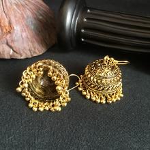 The Gleaming India Cover Earrings Handmade Golden Plating Tribal Jewelry BOHO Hippie Wind Pakistani Muslim Thailand Nepal Turkey
