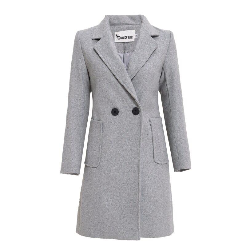 De Élégant Gray Veste Mince Mélange Qualité D'hiver Manteaux Haute Vestes Manteau Cardigan Laine Chaude Femme 2018 Femmes Long Vente Cachemire wFHq4ffX