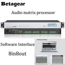 Betagear 8 Input / 8 Output Digital Audio Matrix Processor DSP Digital Audio Processor — Audio/Sound Digital Matrix Processor