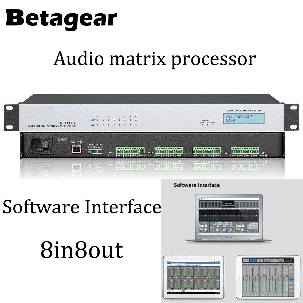 Processeur matriciel Audio numérique Betagear 8 entrées/8 sorties processeur Audio numérique DSP-processeur matriciel numérique Audio/sonore