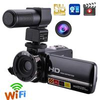 1080P Full HD Camcorder Remote Control Infrared Night Vision Camera 24MP 16X Digital Zoom Video Camera w/ Microphone Touchscreen