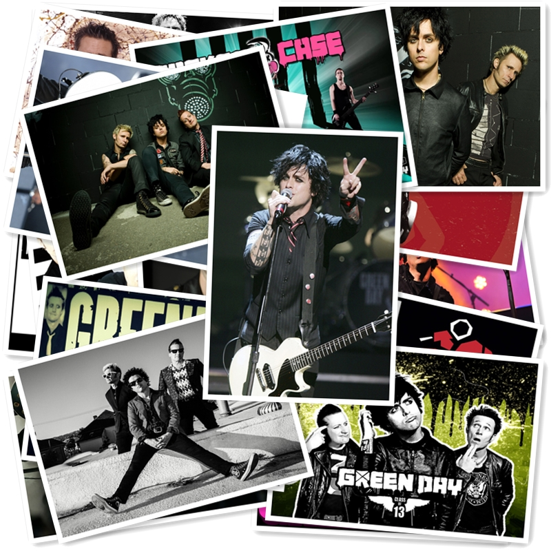 B1-11#  Green Day Classic Series Sticker 20/pcs PVC Sticker Travel Suitcase Bike Phone Sliding Plate  Graffiti Styling