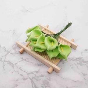 Image 3 - 144 шт., искусственные мини цветы из вспененного материала, букет лилий, искусственные цветы для украшения свадьбы, подарок на день Святого Валентина. Q