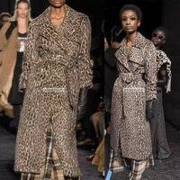 classic leopard casaco feminino amazing wool coat wild and hysterical warm winter coat women fashion abrigo mujer long coat