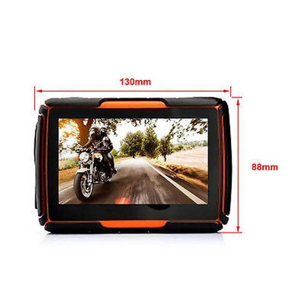 New 4.3 Inch 8GB 256 RAM Waterproof Moto Bluetooth GPS Navigator for Motorcycle Motorbike+Free Maps