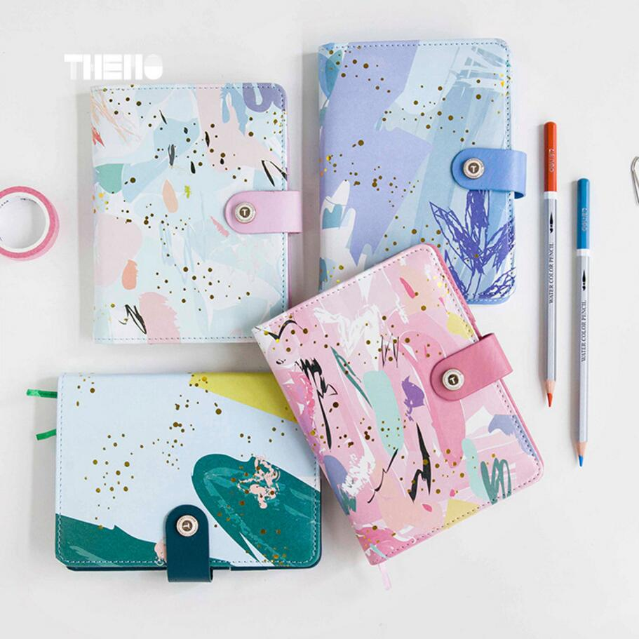 купить A6 Cute Season Gilding new renewable leather travel notebook,fine portable traveler journal diary planner notebooks stationery дешево