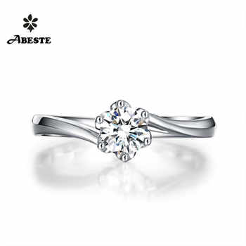 ANI 18K White/Yellow/Rose Gold (AU750) Engagement Ring 0.3ct Certified Diamond Ring Newest Design Women Wedding Fine Jewelry