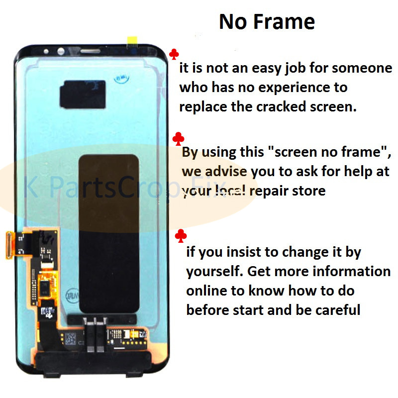 US $111 6 10% OFF|For Samsung S8 LCD with Frame Replacement for SAMSUNG  Galaxy S8 Plus LCD G955 S8 G950 G950F Display lcd Touch Screen Digitizer-in
