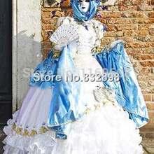 Роскошное белое викторианское бальное платье Женский Венецианский карнавальный костюм