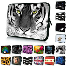Animal Prints Soft Fashion Neoprene Netbook Laptop PC Sleeve Bag Cases For Lenovo Dell HP Chromebook 14 14.1 14.4 Inch Notebooks(China)