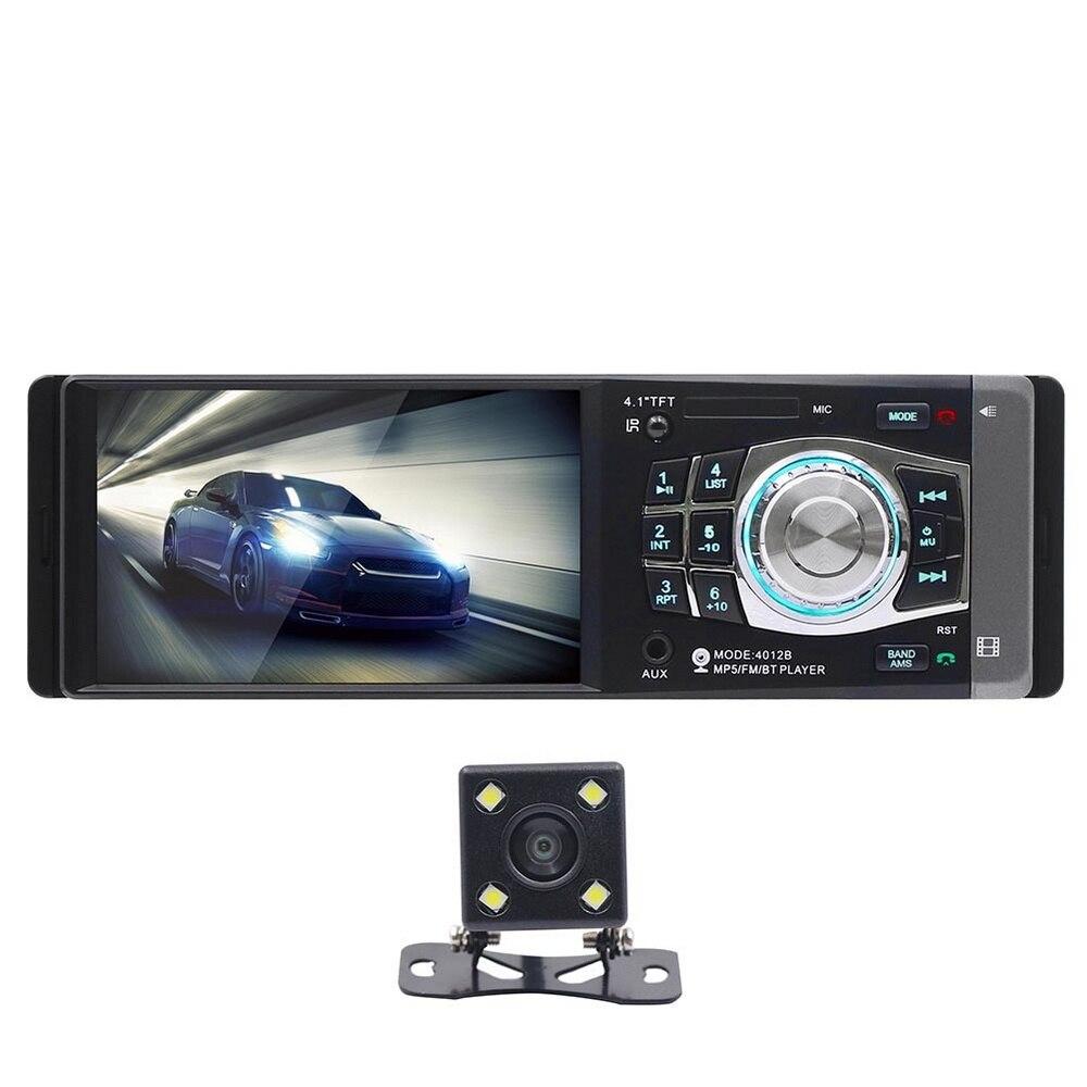 4.1 pouces HD voiture MP5 lecteur multimédia stéréo Audio véhicule Radio Bluetooth FM télécommande avec caméra de vue arrière