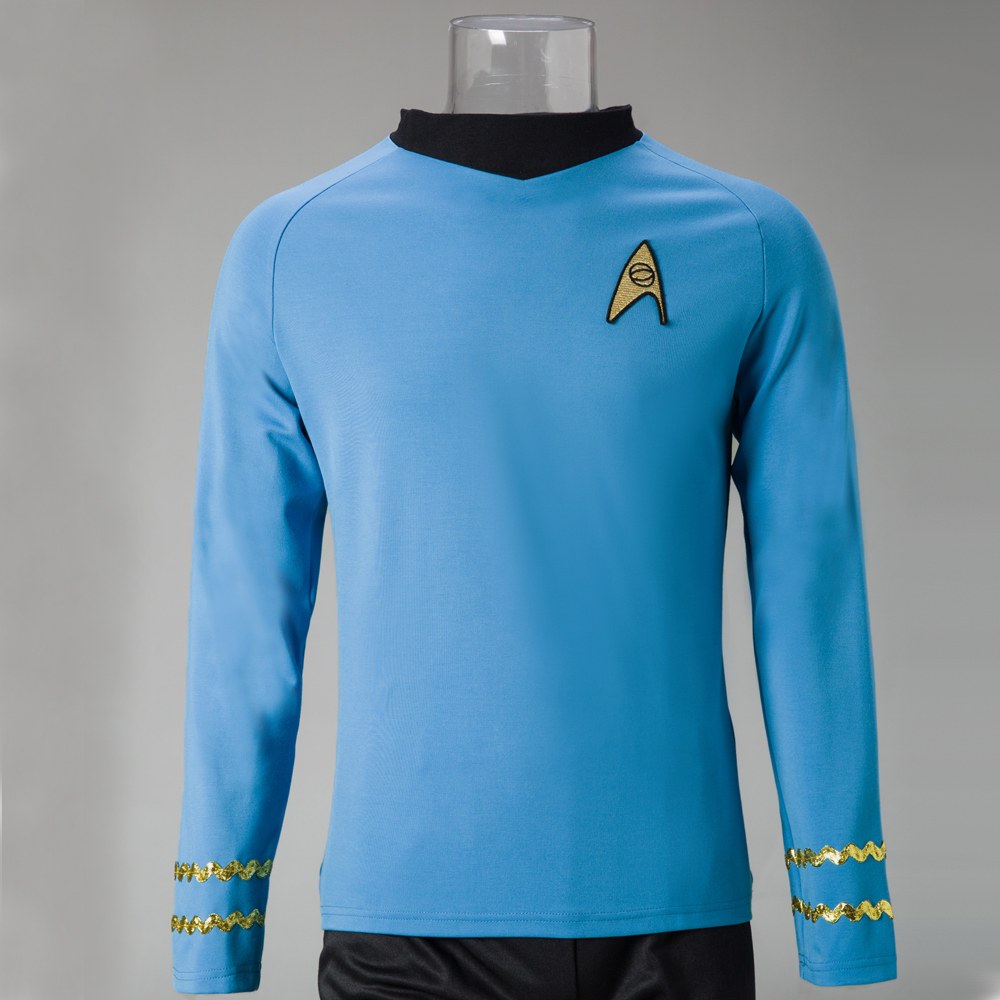 Star Costume Trek The Original Series Cosplay Spock Sciences Halloween Cosplay Costumes image