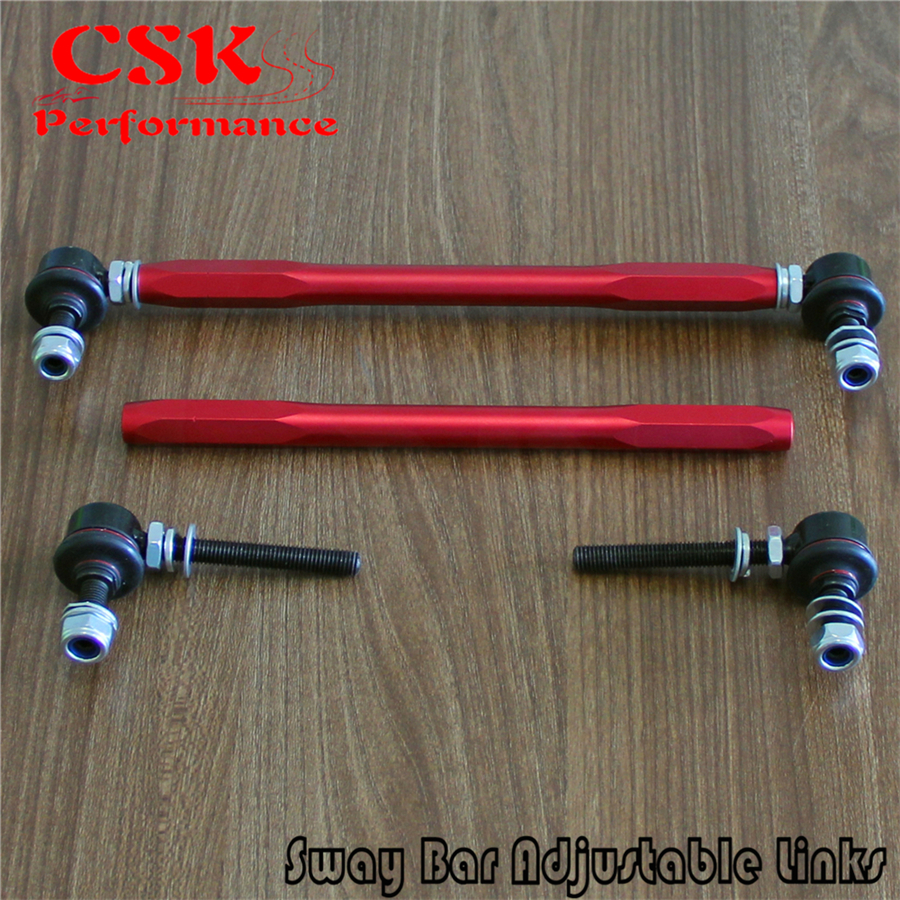 10mm Ball Joint Sway Bar Adjustable 300 345mm Drop Links Fits For BMW MAZDA Fits For PEUGEOT