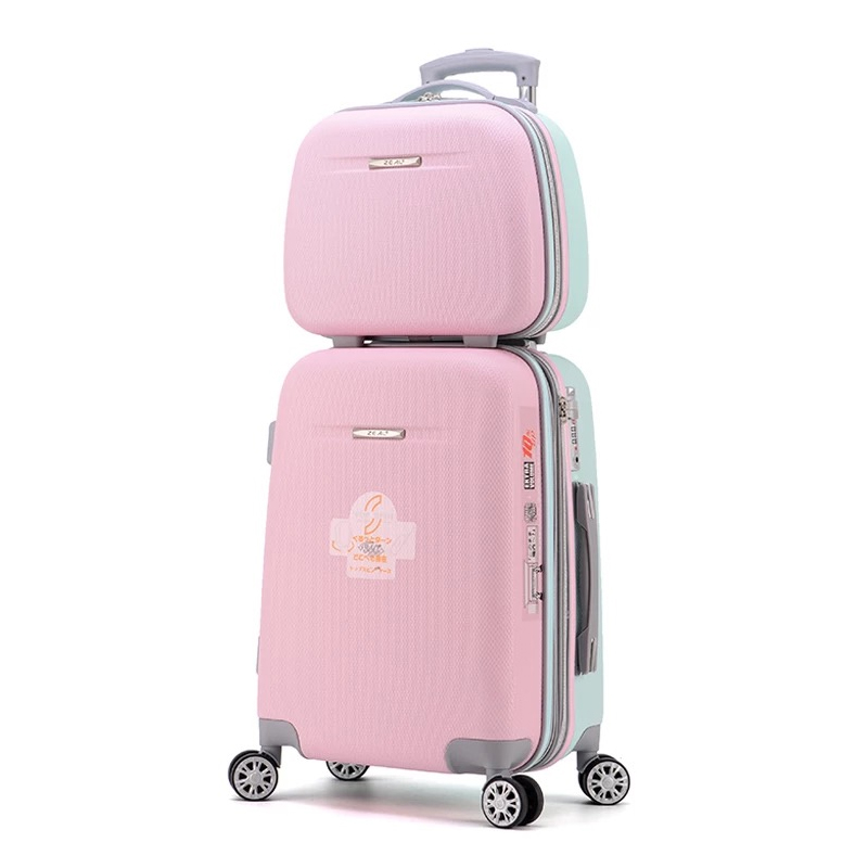 Us 106 4 5 Off Graspdream 20 22 Inch Woman Trolley Case Suitcases Cute Luggage Travel Bag Abs Rolling Suitcase On Wheels In