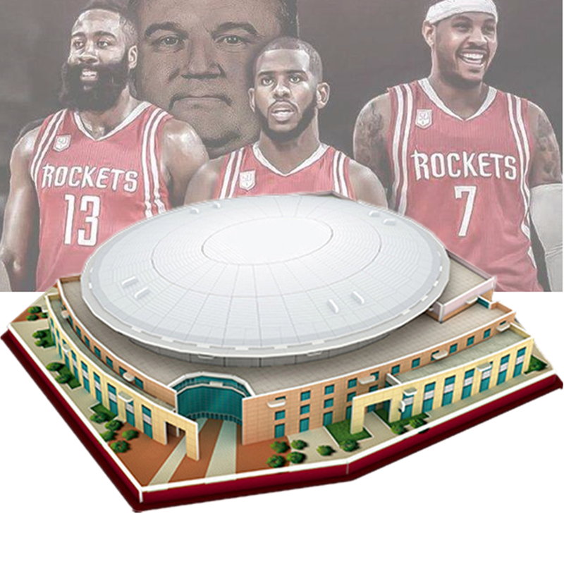 Classic Jigsaw 3D Puzzle Houston Center Basketball Game