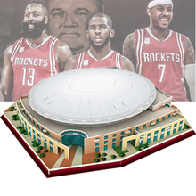 Classic Jigsaw 3D Puzzle Houston Center Basketball Game Stadiums World DIY Construction Bricks Toys Scale Models Sets Paper
