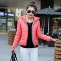 Baratos por atacado 2016 Outono Inverno projeto curto para baixo algodão amassado Jaqueta feminina projeto curto outerwear grosso Casaco de moda casual