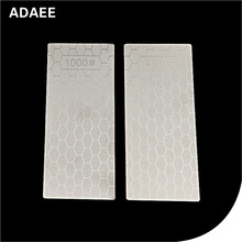цена на Adaee 2 Pcs/set 400 1000 Grit New Diamond Single Side Square Full Of Sand Grinding Tool Sharpening Stone Polishing