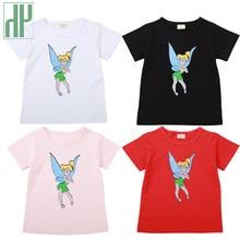 цена на Cute Baby Girls T Shirt Short Sleeve Princess Funny Cartoon Summer 2019 Cotton Children Tees Kids T Shirt Girl Top Clothes