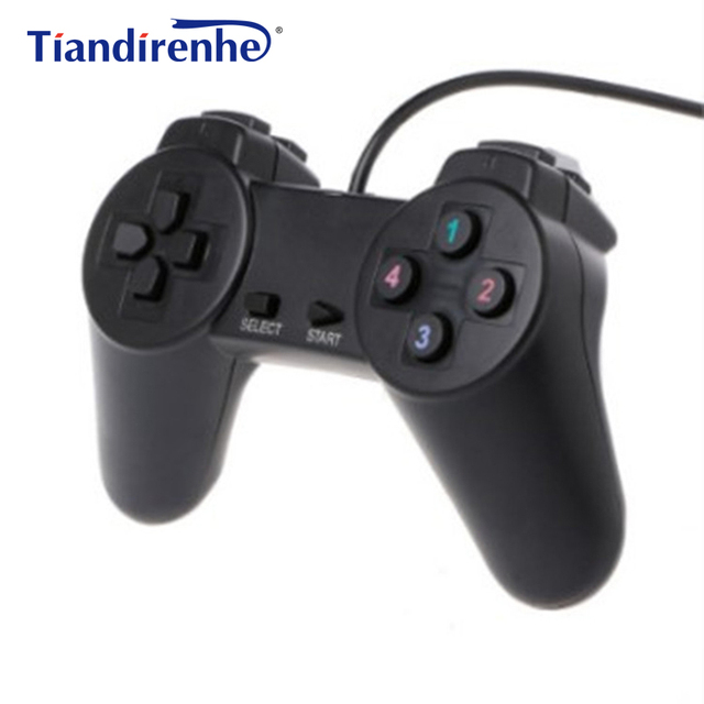 US $4 51 |USB 1 01/ 2 0 Controller Gamepad for PC USB Joystick for PC Game  Wired Computer Control for Windows Laptop Plug and Play-in Gamepads from