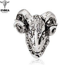 My Order Items Gothic Punk Skull Adjustable Big Silver Biker Rotating Unicorn Party Rings Men's Jewelry