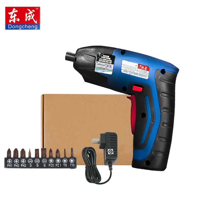 цена на Dongcheng 4V 1.5Ah Cordless Electric Multi-function Screwdriver Household Rechargeable Battery with Work Light Power Tools