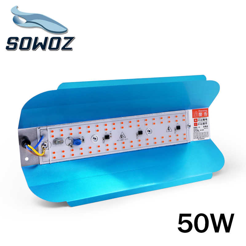 SOWOZ 50W Plant growth lamp LED Grow Light Phyto Simple floodlight 220V For Plant Greenhouse Hydroponic