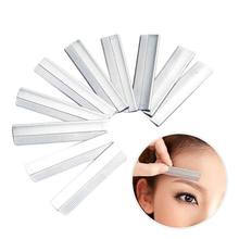 Eyebrow Trimmer Stainless Steel Eyebrow Blades Super Feather Platinum Coated Edge Razor Blades Make Up Tools 10pcs/box(China)