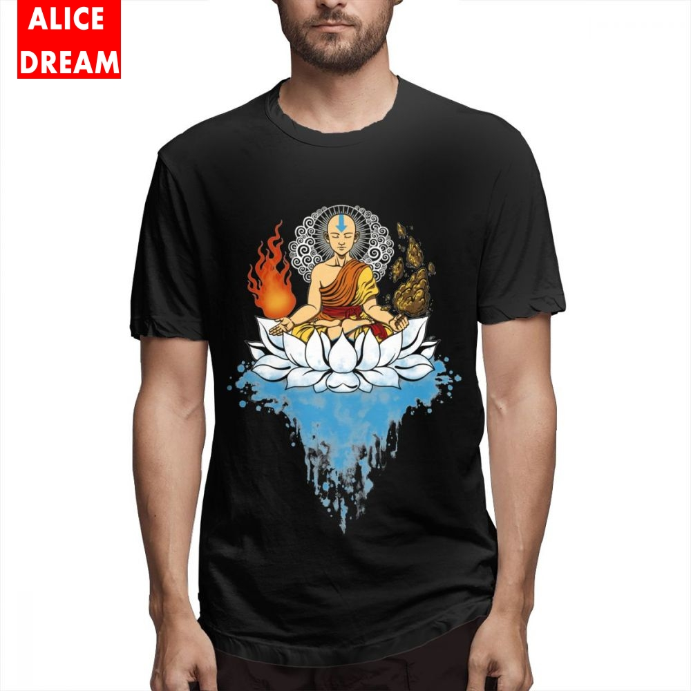 Last Airbender T shirt Avatar Legend Of Korra Aang Katara T-shirt 2019 New T-Shirt Round Collar AliceDream Tee