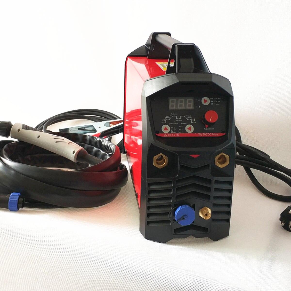 Professionelle Digitale TIG 200A Puls Schweißen Maschine Heißer Starten HF Zündung Anti Stick Arc Kraft CE IGBT Inverter MMA TIG schweißer