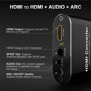 Image 4 - 4K 60Hz HDMI Audio Extractor 5.1 ARC HDMI Audio Extractor Splitter HDMI Audio Extractor Ottico TOSLINK SPDIF + 3.5mm Stereo