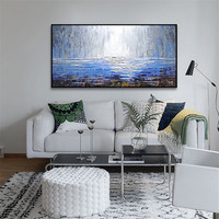 Modern abstract oil painting seascape on Canvas ,oil paintings Hand painted Wall Pictures for living room home decor art paint